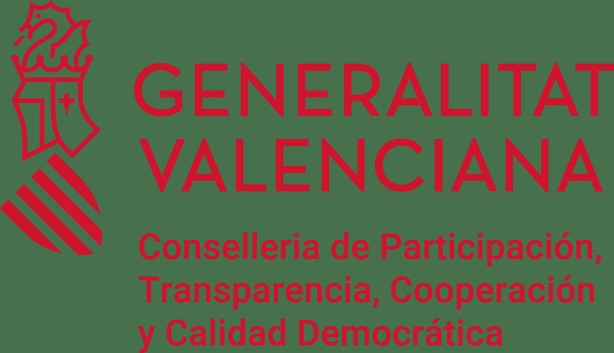 Logo Conselleria transparencia. Generalitat Valenciana